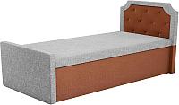 Двуспальная кровать Mebelico Севилья 30 / 59597 (рогожка, серый/коричневый) -