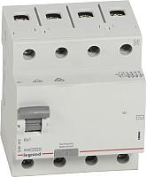 Устройство защитного отключения Legrand RХ3 4P 25A 30mA 10kA 4M тип АС / 402062 -