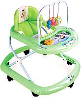 Ходунки Alis Карусельки с силиконовыми колесами  (зеленый) -