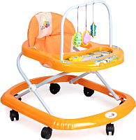 Ходунки Alis Карусельки с силиконовыми колесами  (оранжевый) -