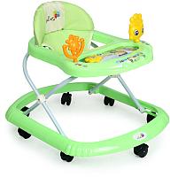 Ходунки Alis Солнышко 801B с силиконовыми колесами (зеленый) -