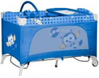 Кровать-манеж Lorelli Travel Kid 2 Rocker Blue Baby Owl (10080231418) -