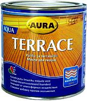 Масло для древесины Aura Wood Terrace Aqua (900мл, коричневый) -