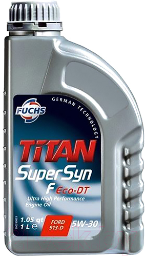 Купить Моторное масло Fuchs, Titan Supersyn F Eco-Dt 5W-30 / 600926328 (1л), Германия