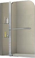 Стеклянная шторка для ванны RGW SC-04 с полками / 03110411-11 -