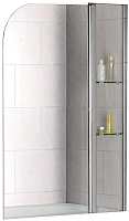 Стеклянная шторка для ванны RGW SC-07 с полками / 03110710-11 -