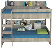 Двухъярусная кровать Polini Kids Simple 5000 (вяз/белый) -
