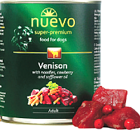 Корм для собак Nuevo Dog Adult Venison & Noodles & Cowberry / 95002 (800г) -