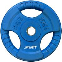 Диск для штанги Starfit BB-201 (2.5кг, синий) -