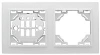 Рамка для выключателя EKF Basic Минск-2 горизонтальная (белый) -