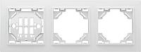 Рамка для выключателя EKF Basic Минск-3 горизонтальная (белый) -