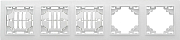 Рамка для выключателя EKF Минск-5 горизонтальная (белый) -