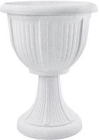 Вазон Алеана Леон 114007 (белый флок) -