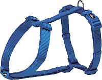 Шлея Trixie Premium H-harness 203302 (S/M, синий) -