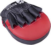Боксерские лапы RuscoSport Красная (изогнутые) -