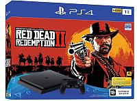 Игровая приставка Sony PlayStation 4 Slim 1TB + игра Red Dead Redemption 2 -