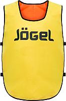 Манишка футбольная Jogel JBIB-2001 (желтый/оранжевый) -
