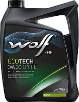Моторное масло WOLF EcoTech 0W20 FE D1 / 16104/5 (5л) -