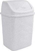 Мусорное ведро Алеана 122065 (белый флок) -