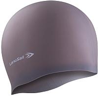 Шапочка для плавания LongSail Силикон 1/240 (серый) -