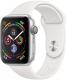 Умные часы Apple Watch Series 4 40mm / MU642 (алюминий серебристый/белый) -