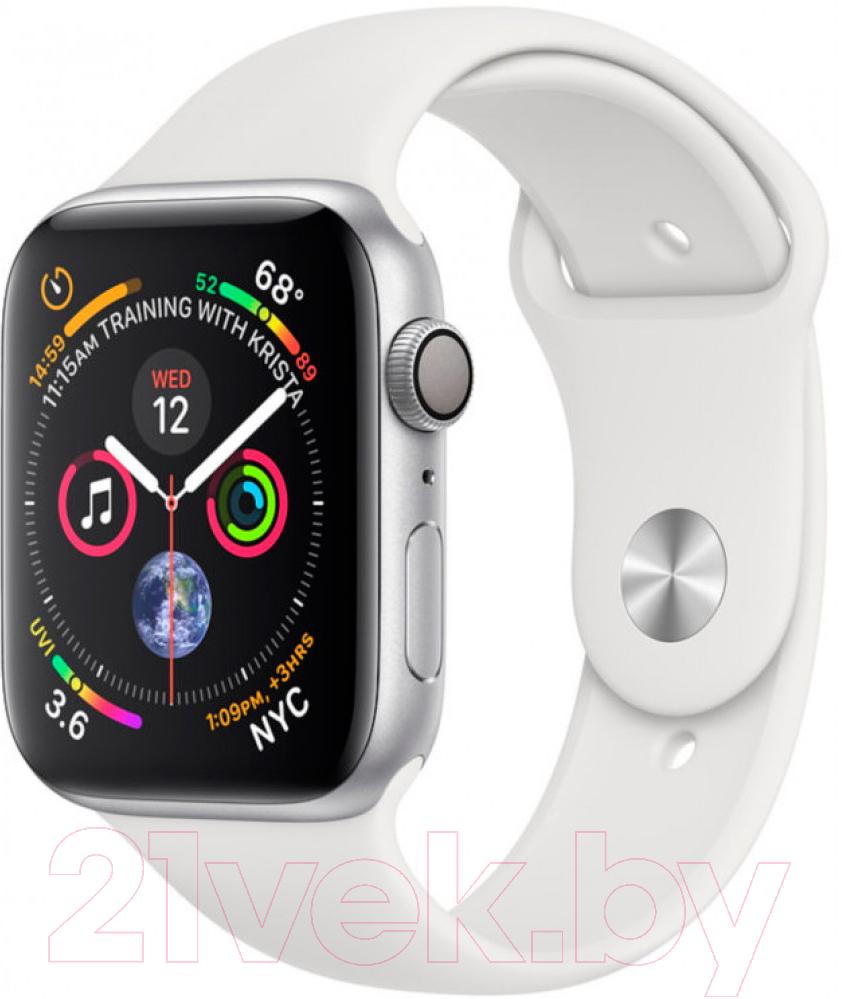 Купить Умные часы Apple, Watch Series 4 40mm / MU642 (алюминий серебристый/белый), Китай