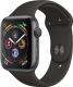 Умные часы Apple Watch Series 4 40mm / MU662 (алюминий серый космос/черный) -