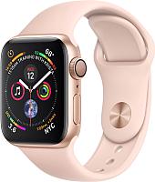 Умные часы Apple Watch Series 4 40mm / MU682 (алюминий золото/розовый) -
