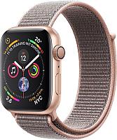 Умные часы Apple Watch Series 4 40mm / MU692 (алюминий золото/нейлон розовый песок) -