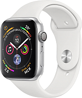 Умные часы Apple Watch Series 4 44mm / MU6A2 (алюминий серебристый/белый) -