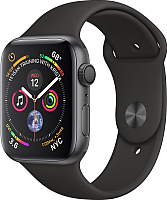 Умные часы Apple Watch Series 4 44mm / MU6D2 (алюминий серый космос/черный) -