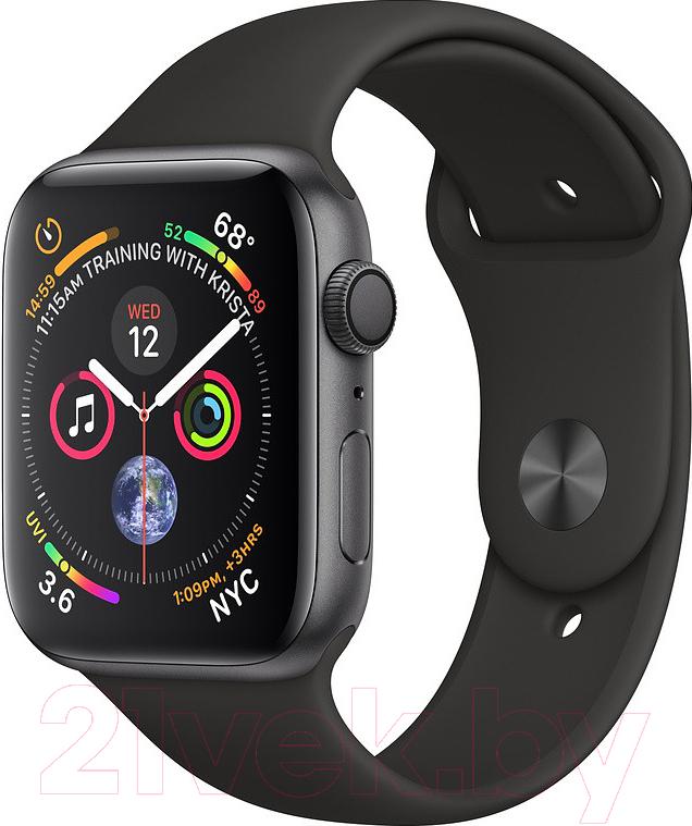 Купить Умные часы Apple, Watch Series 4 44mm / MU6D2 (алюминий серый космос/черный), Китай