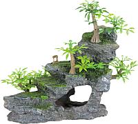 Декорация для аквариума Trixie Утёс с растениями / 8852 -
