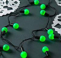 Светодиодная гирлянда Luazon Шарики большие 185541 (10м, зеленый) -