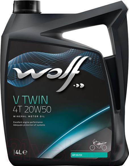 Купить Моторное масло WOLF, V Twin 4T 20W50 / 29147/4 (4л), Бельгия