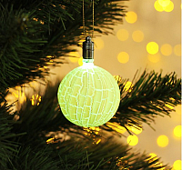 Светодиодная игрушка Luazon Елочный фонарик узоры краской 2361568 -