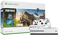Игровая приставка Microsoft Xbox One S 1ТБ + Fortnite / 234-00713 -