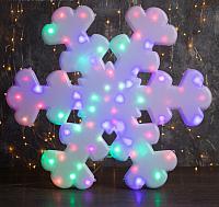 Светодиодная фигура 2D Luazon Снежинка белая 3612443 -