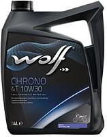 Моторное масло WOLF Chrono 4T 10W30 / 29180/4 (4л) -