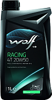 Моторное масло WOLF Racing 4T 20W50 / 29447/1 (1л) -