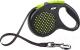 Поводок-рулетка Flexi Design 5m (S, зеленый, ременной) -