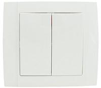 Выключатель ETP Morena 2кл 10А проходной (белый) -