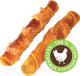 Лакомство для собак Деревенские лакомства Куриные твистеры сушеные (90г) -