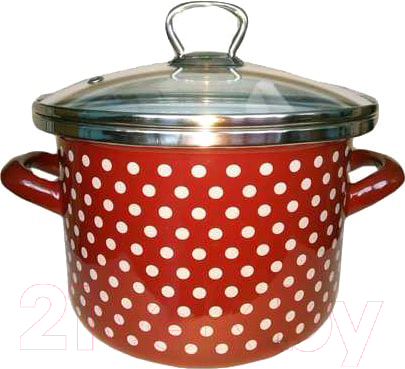 Купить Кастрюля Сантэкс, Горох 1-2240111 (бордовый), Украина