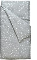 Комплект постельный в кроватку Martoo Comfy B / CMBP-3-GRST (поплин, белые звезды на сером) -