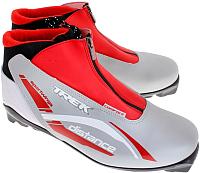Ботинки для беговых лыж TREK Distance Comfort SNS (серебро/красный, р-р 43) -
