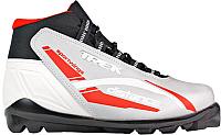 Ботинки для беговых лыж TREK Distance SNS (серебристый/красный, р-р 41) -