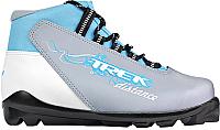 Ботинки для беговых лыж TREK Distance Women SNS (серый металлик/голубой, р-р 40) -