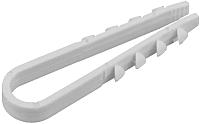 Дюбель-хомут КС ДХК-10 5-10 (100шт, белый) -