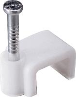 Скоба гвоздевая КС 6 (50шт, плоские) -